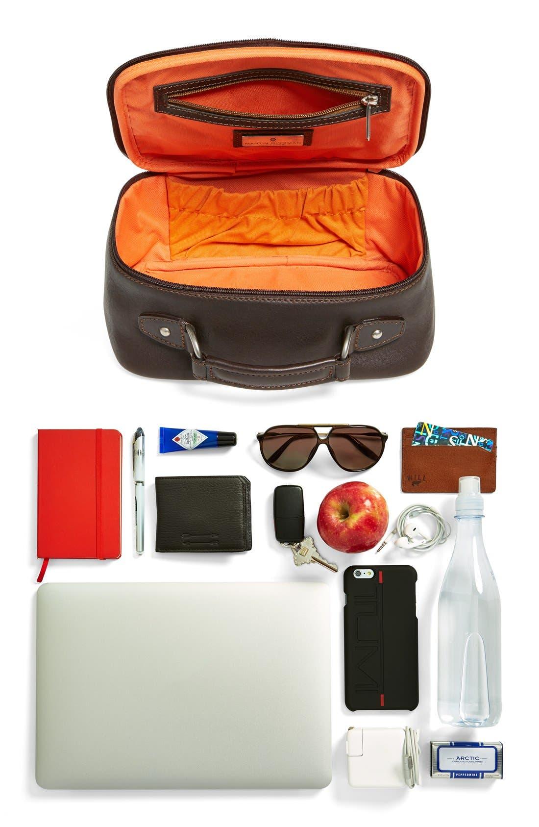MartinDingman'Rudyard' Leather Travel Kit,                             Alternate thumbnail 5, color,                             Chocolate
