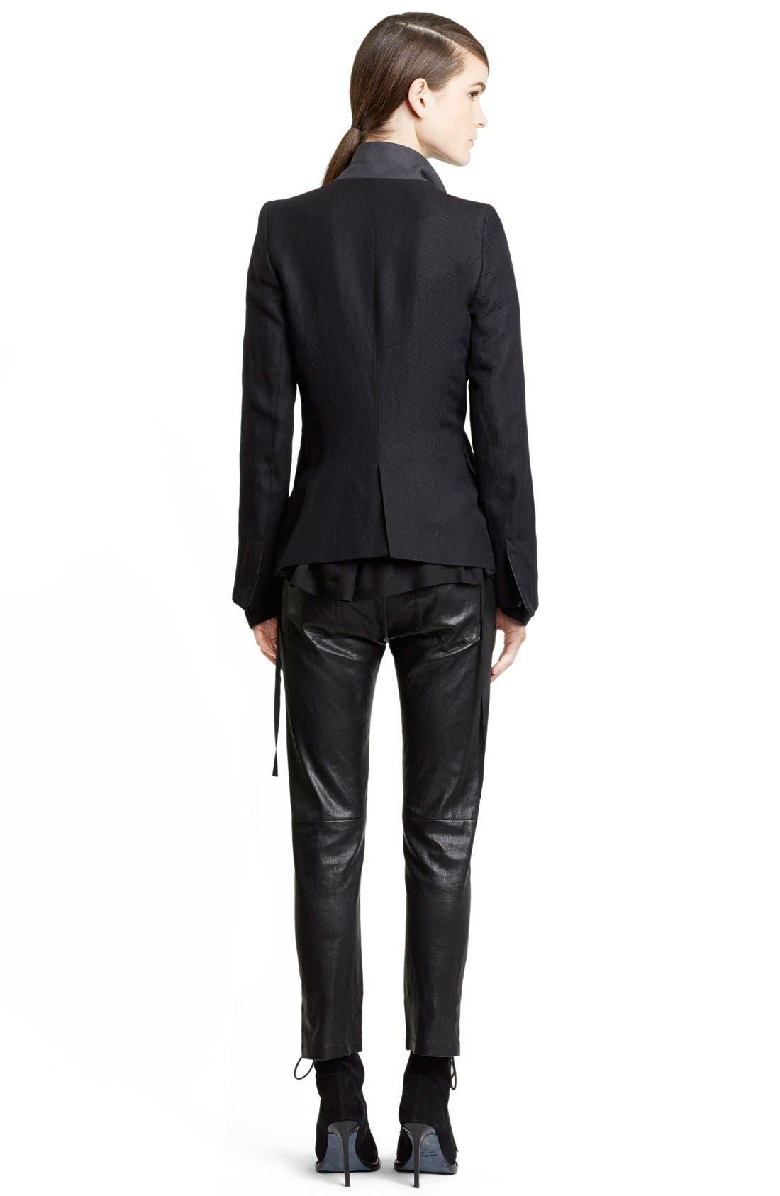 Alternate Image 2  - Ann Demeulemeester Wool & Linen One-Button Jacket