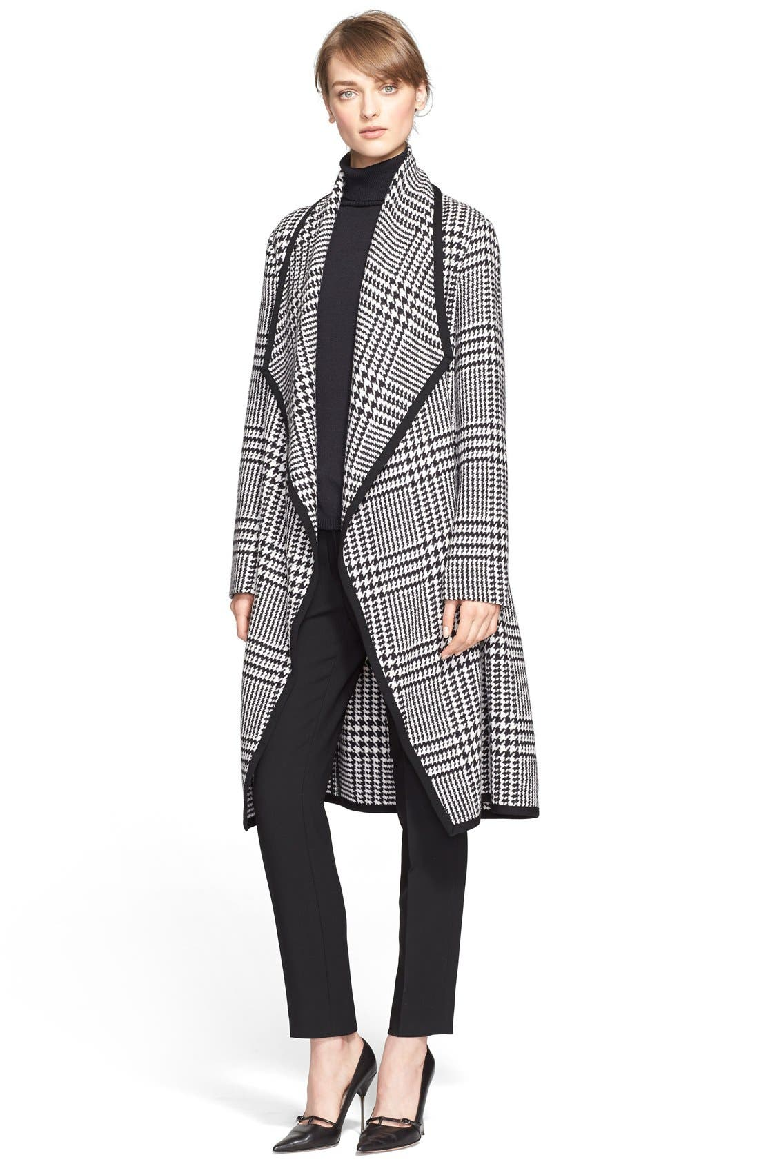 Alternate Image 3  - ESCADA Macro Houndstooth Stretch Wool Coat