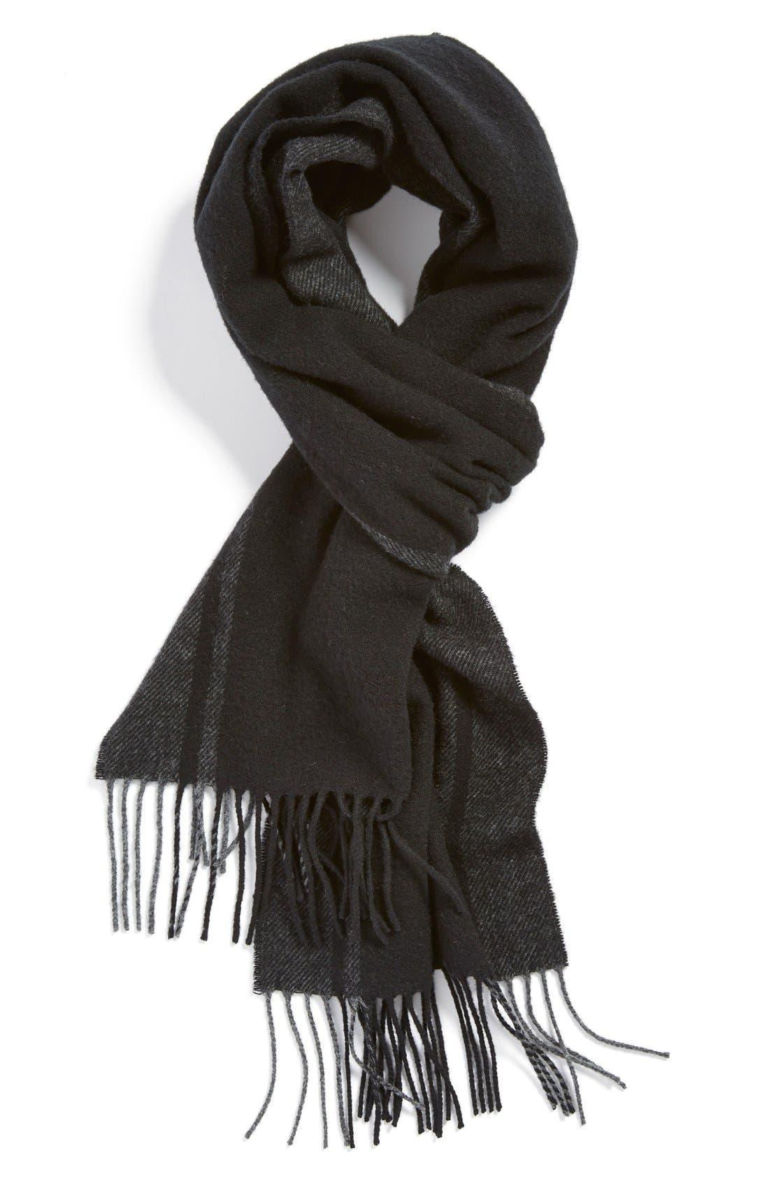 Main Image - BOSS 'Albarello-3' Stripe Wool & Cashmere Scarf