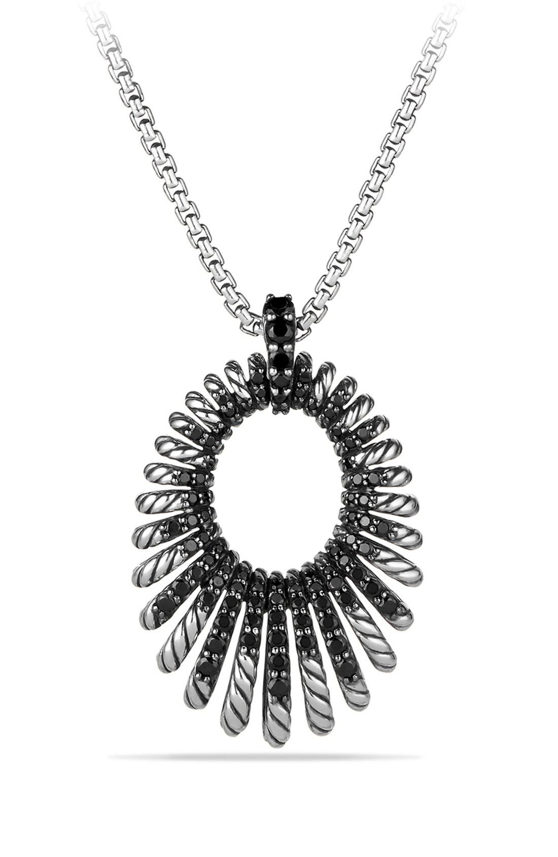 Alternate Image 1 Selected - David Yurman 'Tempo' Necklace with Black Spinel