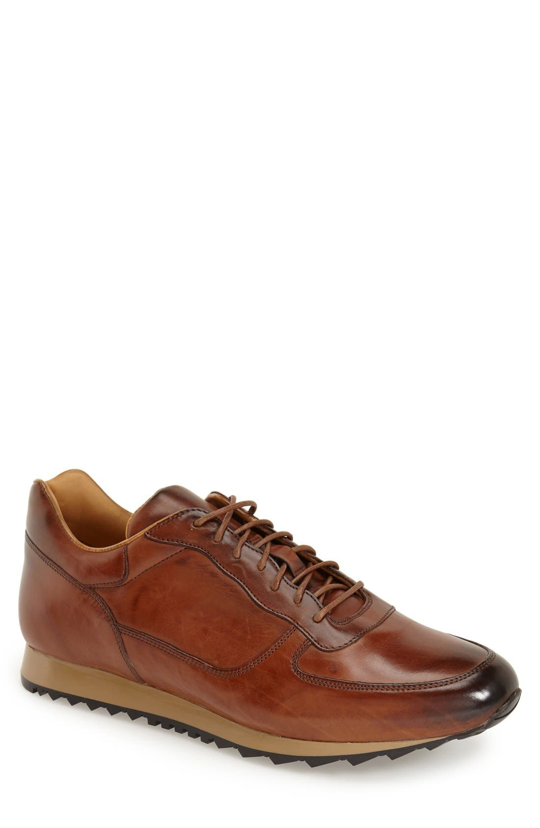 To Boot New York 'Sheridan' Sneaker,                             Main thumbnail 1, color,                             Cognac Leather