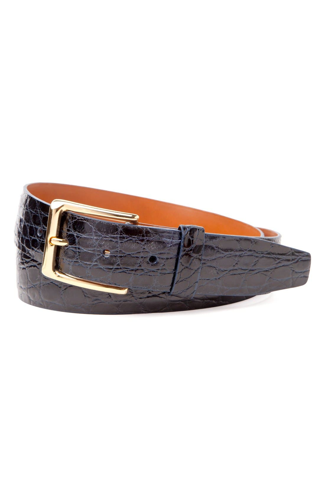 Main Image - Trafalgar 'Newington' Genuine Crocodile Leather Belt