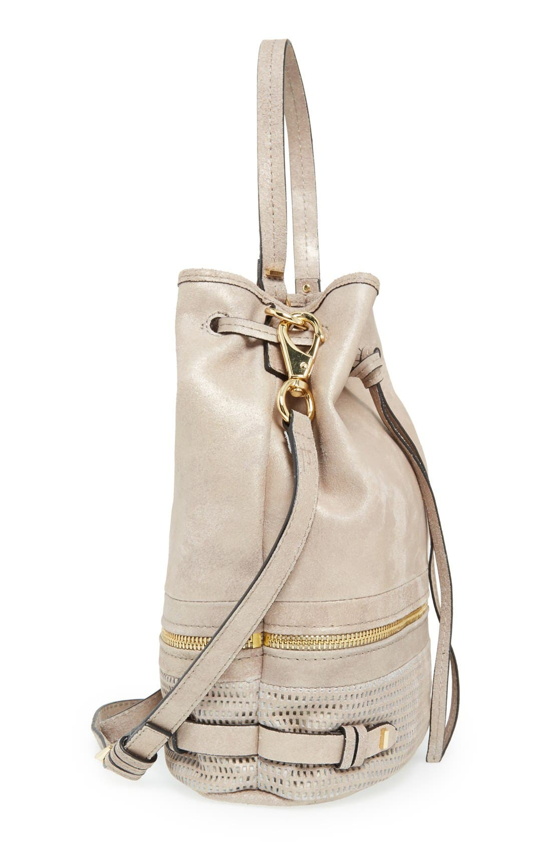 Alternate Image 5  - She + Lo 'Silver Lining' Drawstring Shoulder Bag