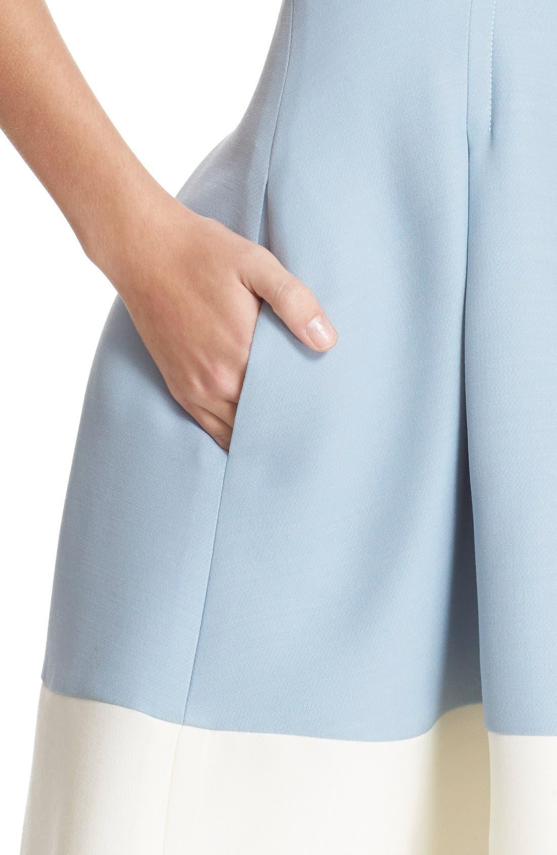 Alternate Image 6  - Fendi Stripe Wool & Silk Blend Fit & Flare Dress