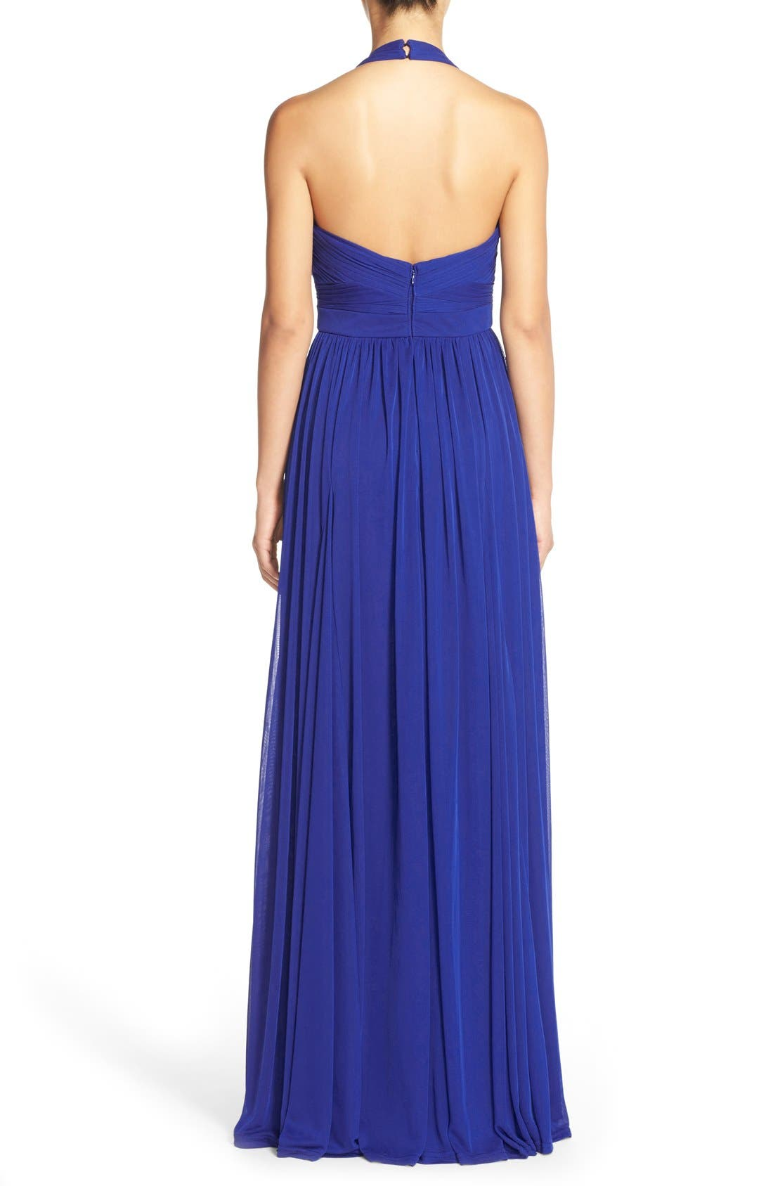 Embellished Tulle Halter Gown,                             Alternate thumbnail 2, color,                             Neptune