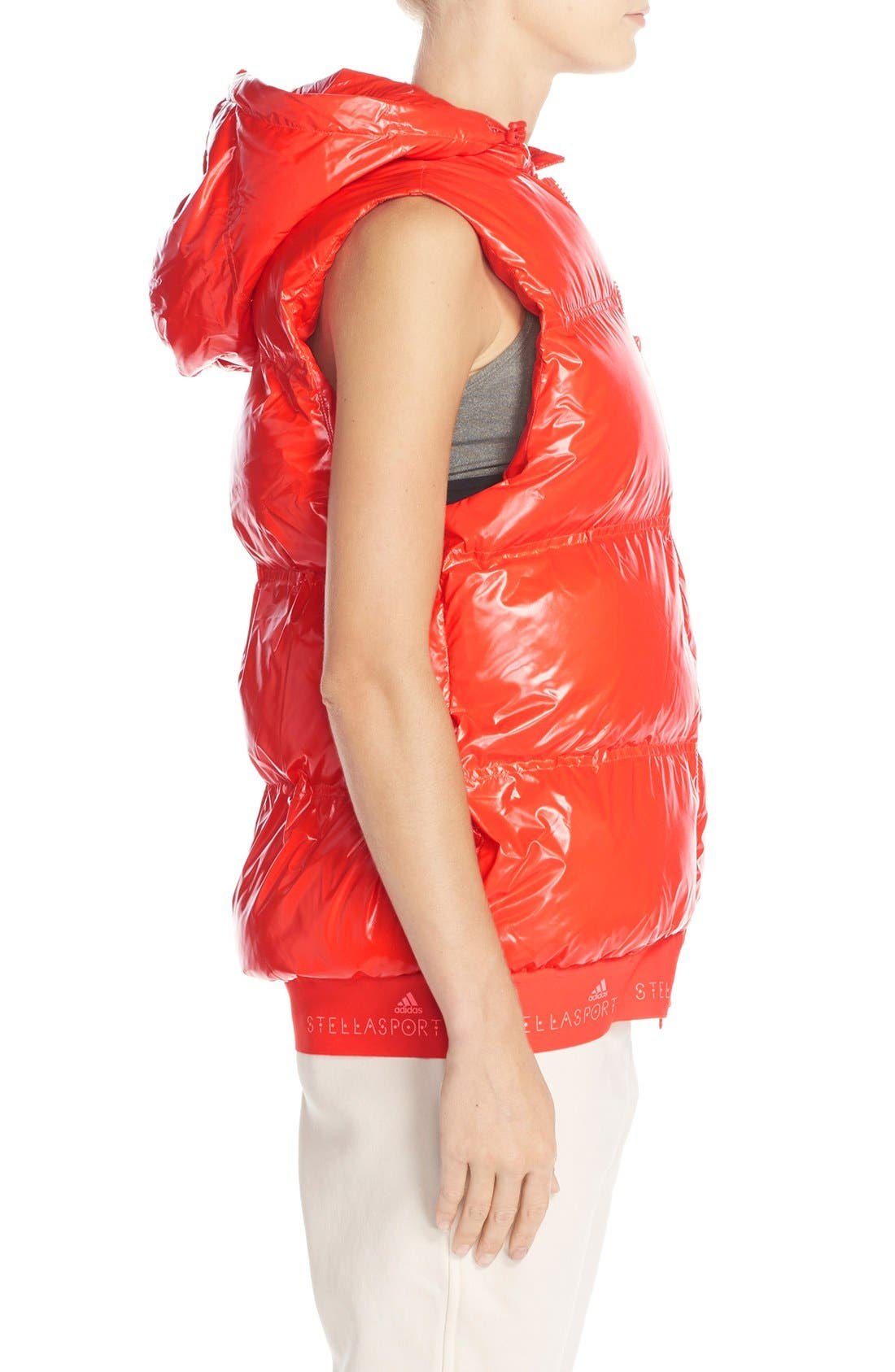 Alternate Image 3  - adidas by Stella McCartney Hooded Quilted Gilet