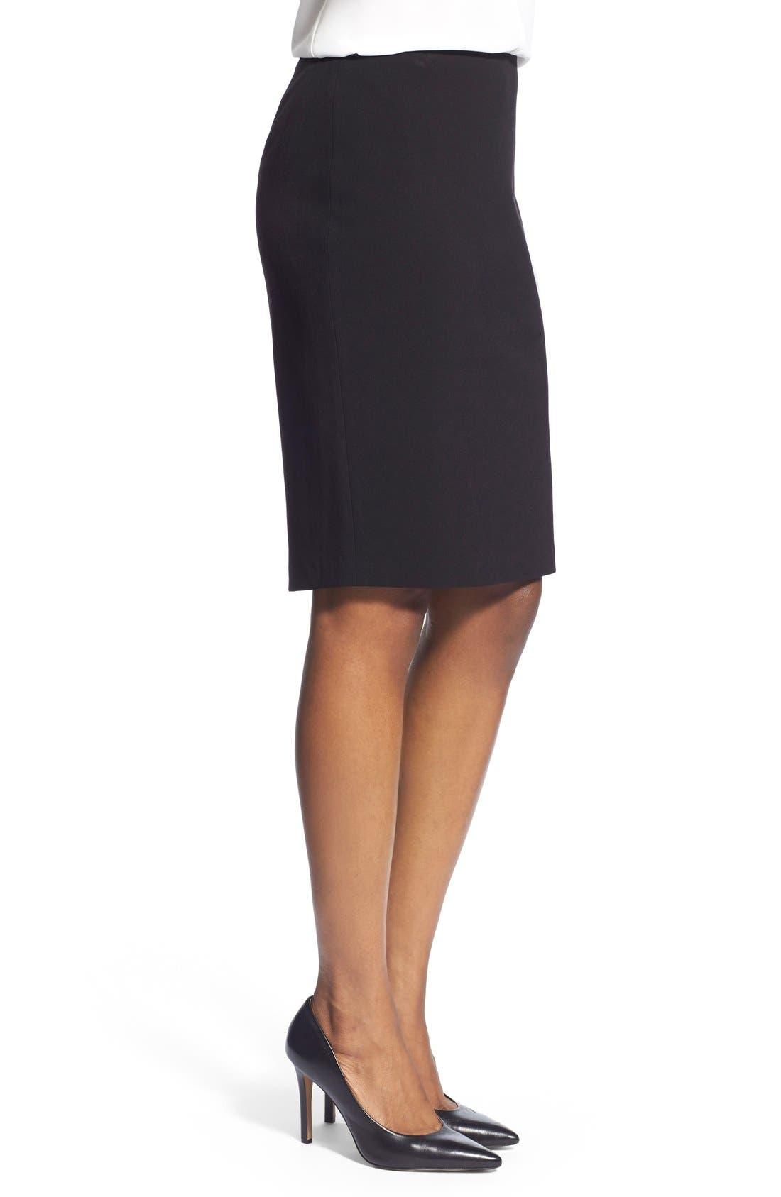 Suit Skirt,                             Alternate thumbnail 3, color,                             Black