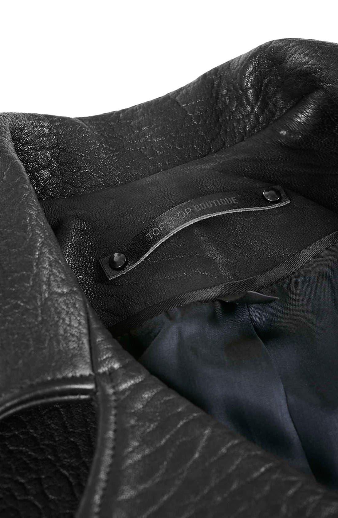 Alternate Image 8  - Topshop Boutique Leather Biker Jacket
