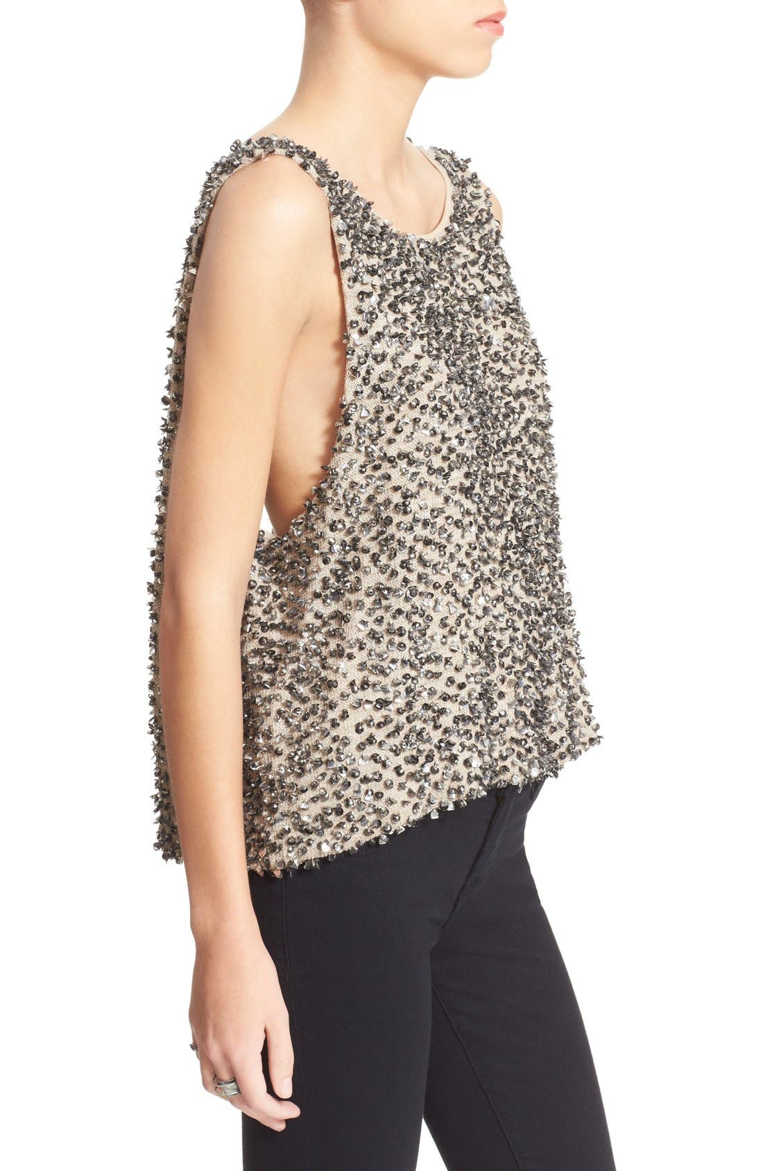 Alternate Image 3  - Free People Sequin Open Back Knit Shell