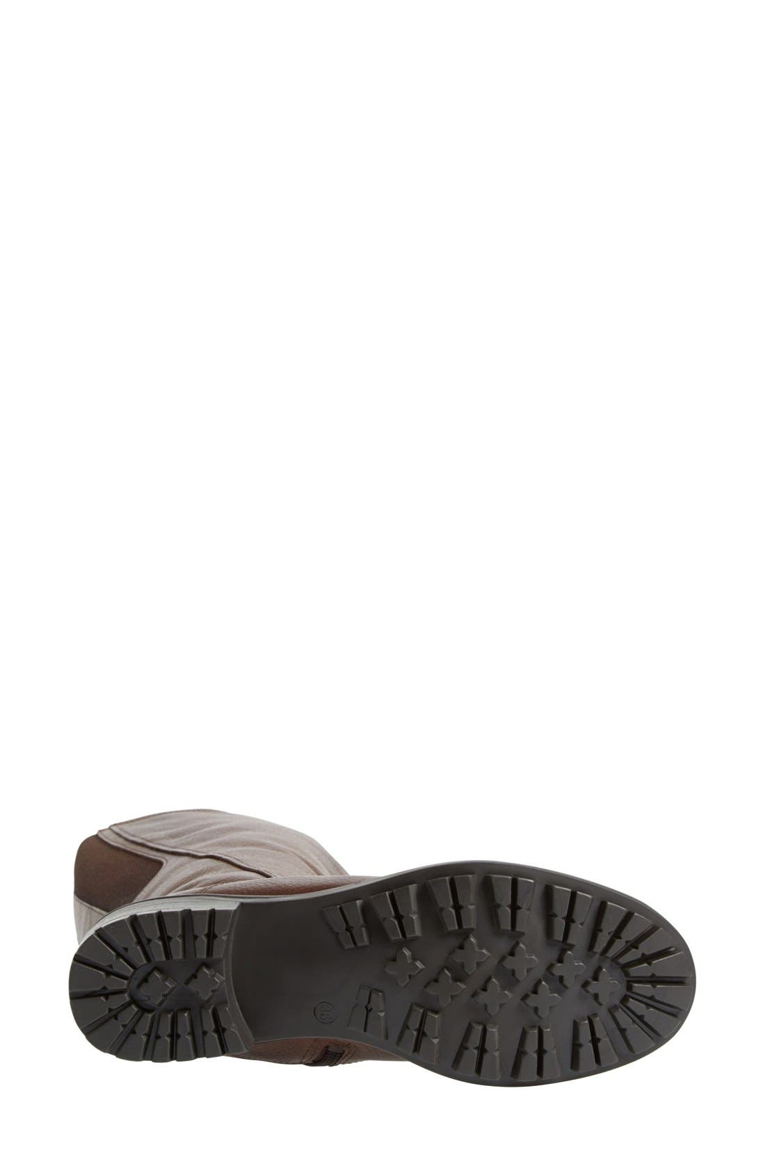 'Andrea' Waterproof Boot,                             Alternate thumbnail 5, color,                             Brown Pebbled Leather Regular