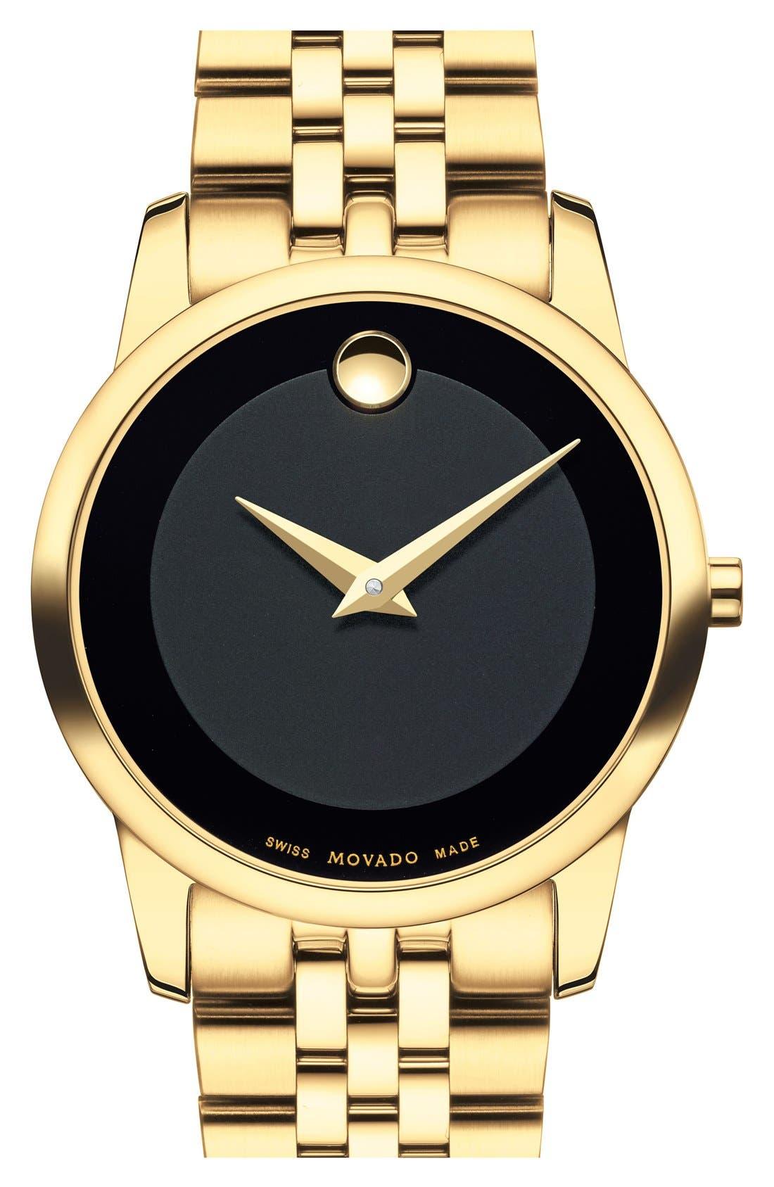 Main Image - Movado 'Museum' Bracelet Watch, 28mm