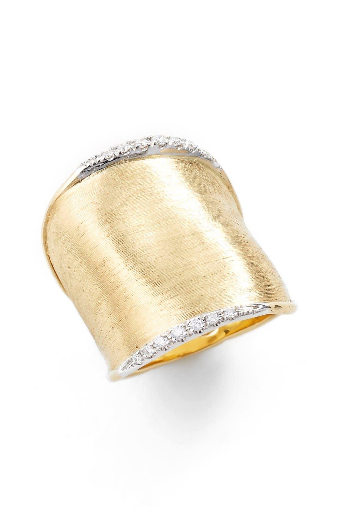 'Lunaria' Diamond Ring,                         Main,                         color, Yellow Gold