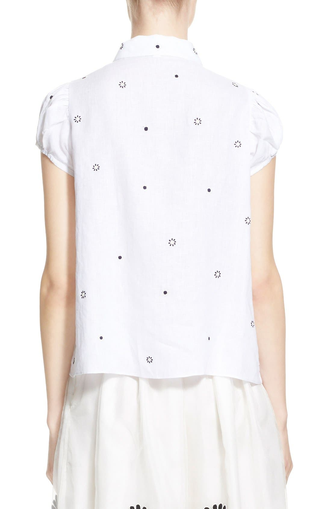 Alternate Image 2  - Jupe by Jackie 'Letaba' Embroidered Linen Blouse
