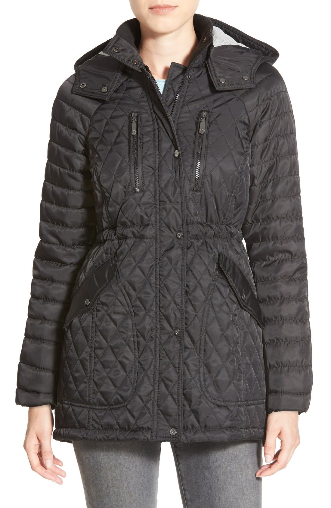Main Image - Vince CamutoDetachableHood Quilted Anorak