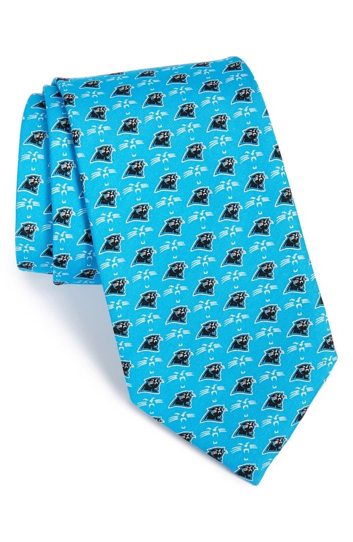 Vineyard Vines Carolina Panthers Nfl Woven Silk Tie