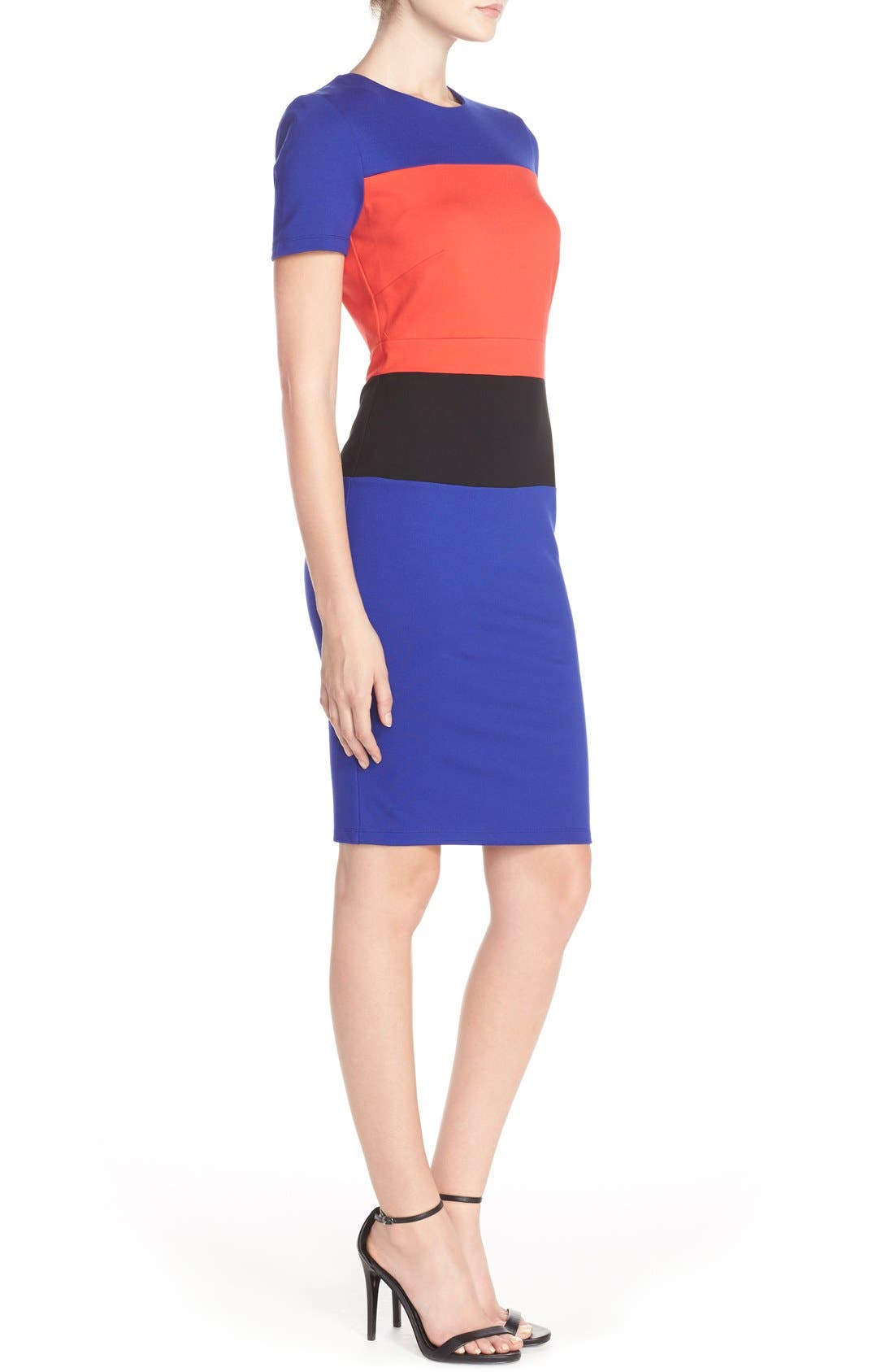 Alternate Image 3  - French Connection ColorblockJersey Sheath Dress
