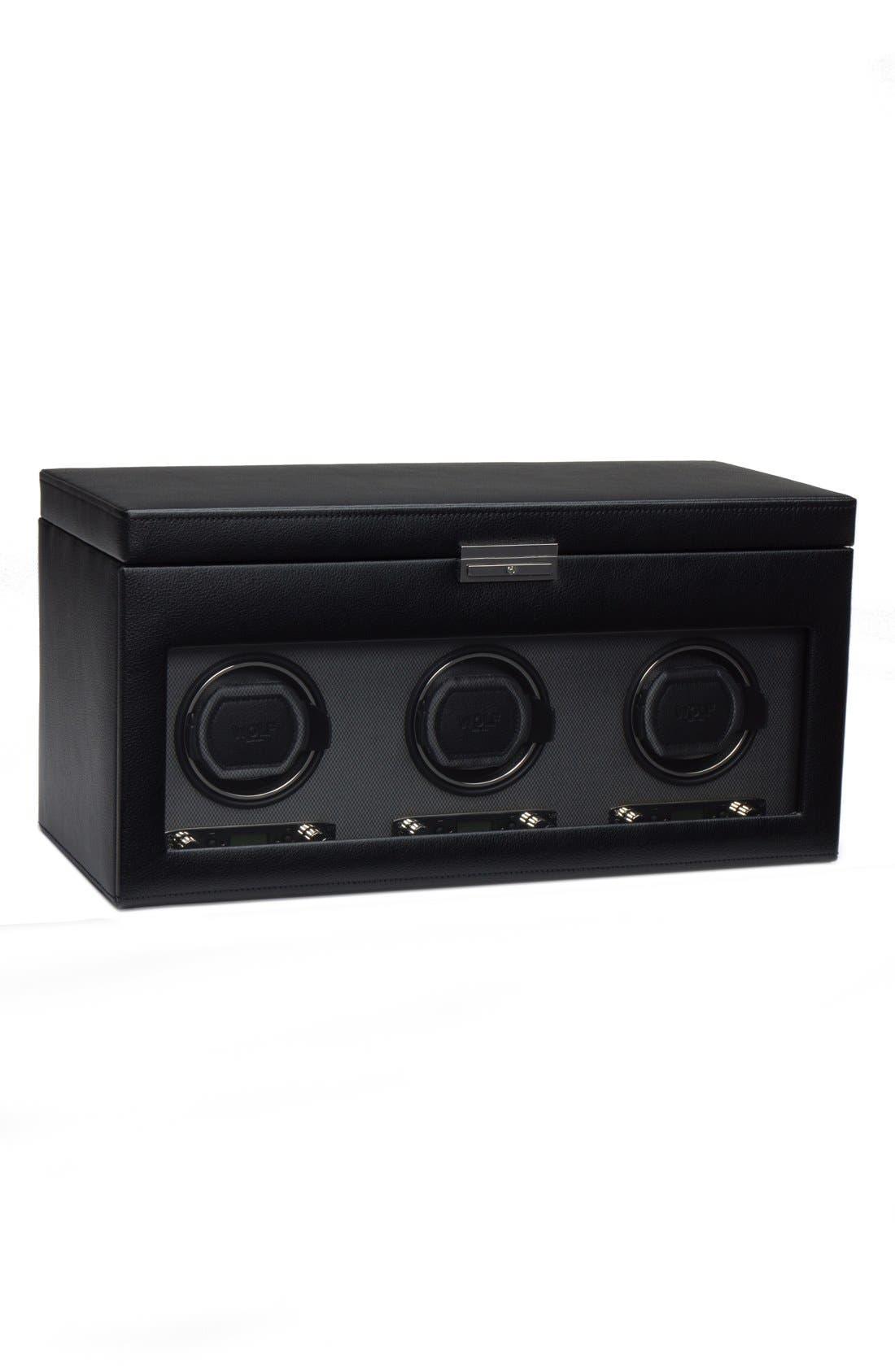Viceroy Triple Watch Winder & Case,                         Main,                         color, Black