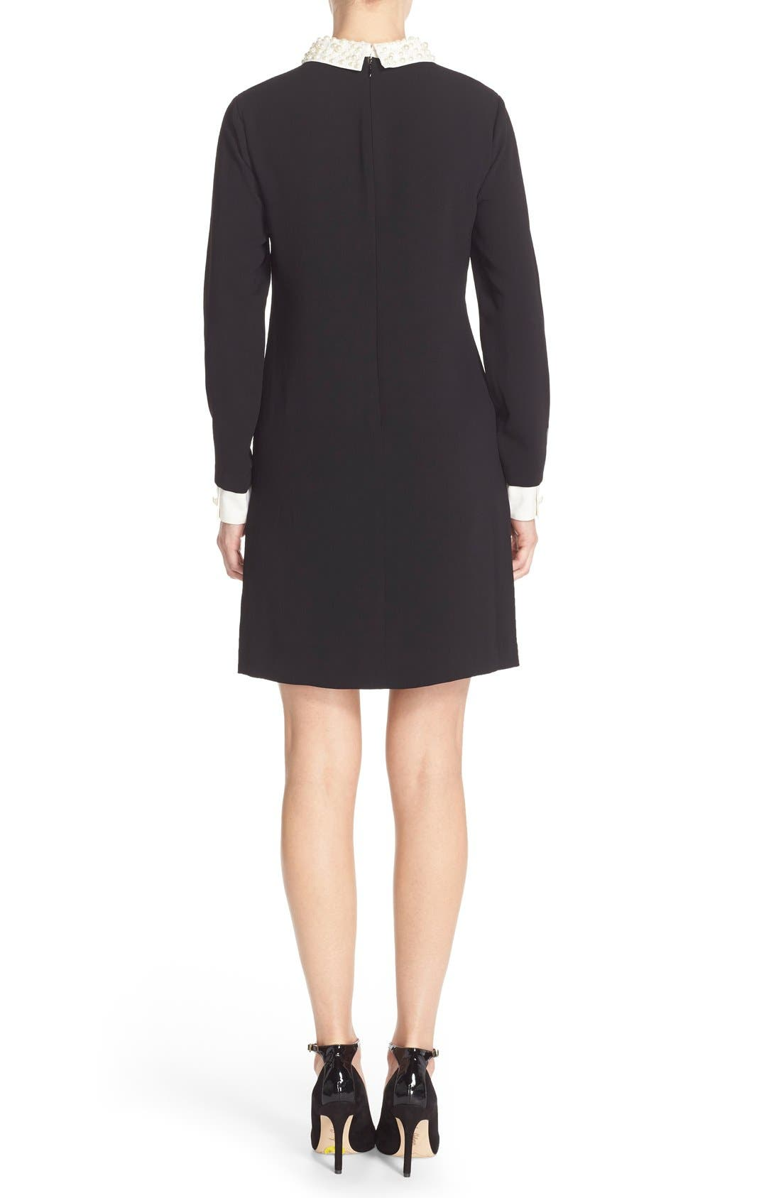Alternate Image 2  - CeCe by Cynthia Steffe Pearl Collar Crepe Shift Dress