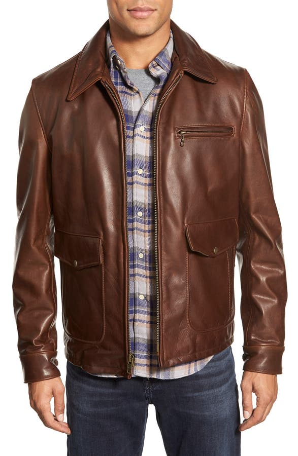 Schott NYC 'Sunset' Leather Jacket | Nordstrom