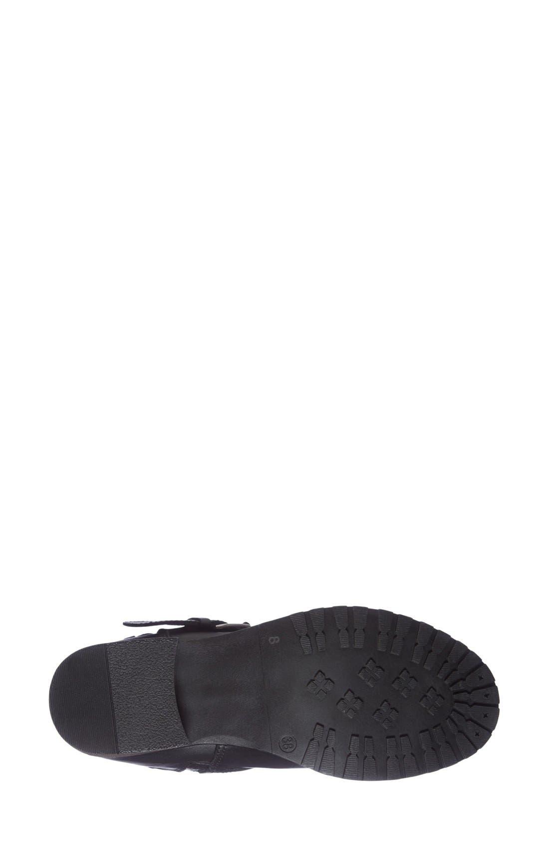 'Granada' Waterproof Pyramid Studded Boot,                             Alternate thumbnail 4, color,                             Black