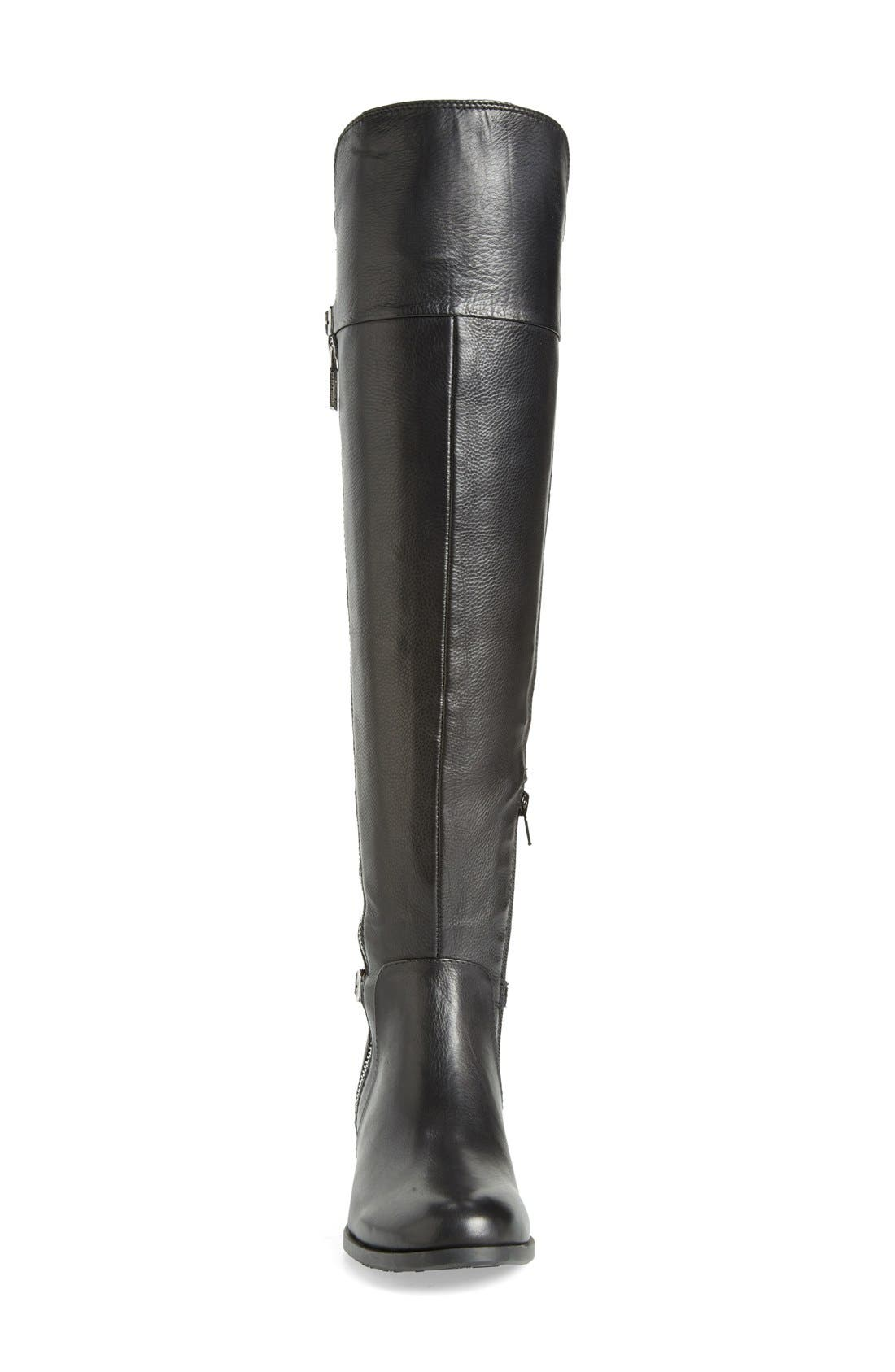 'Oliss' Over The Knee Boot,                             Alternate thumbnail 3, color,                             Black Leather