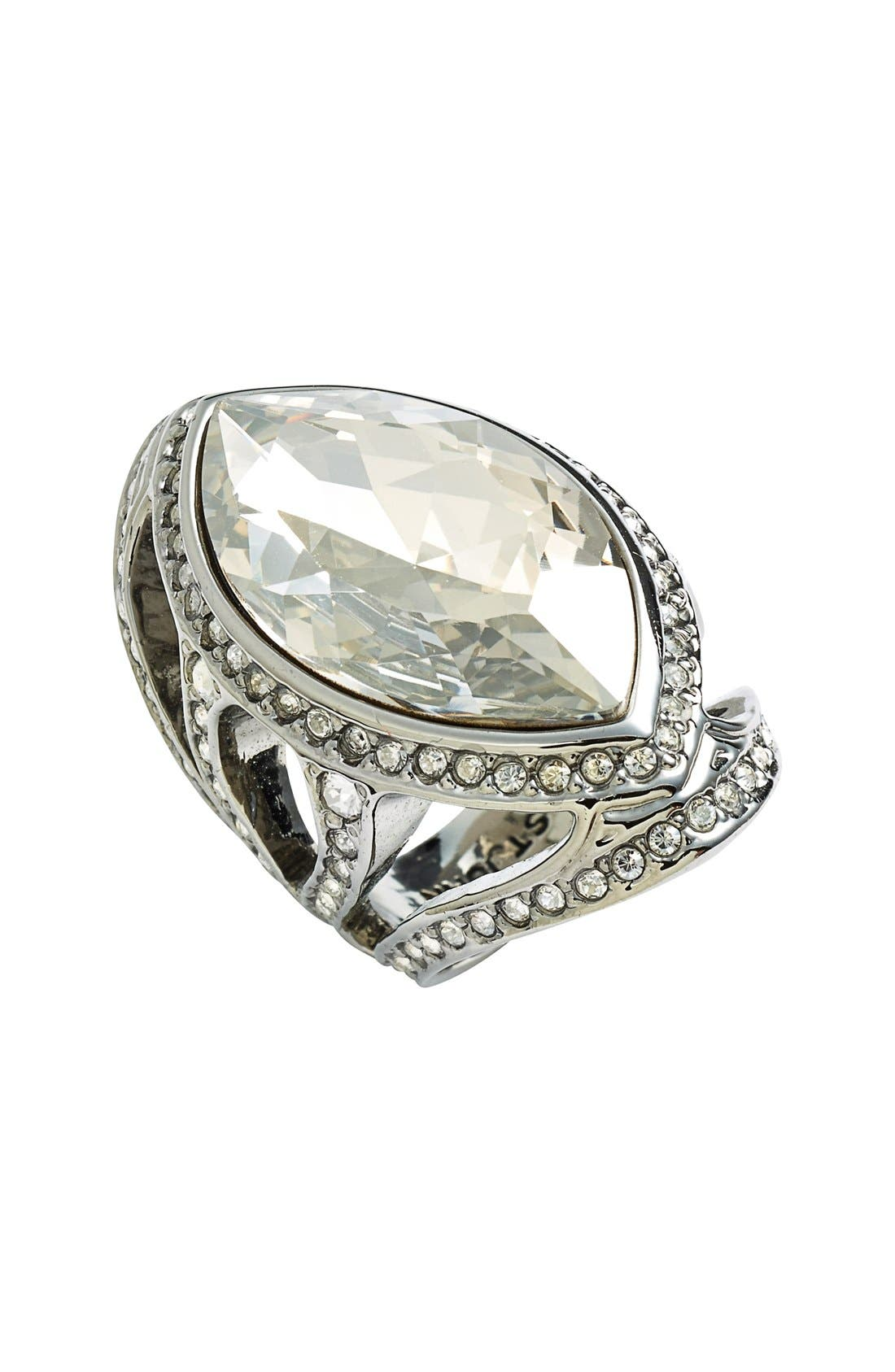 Alternate Image 1 Selected - St. John Collection Swarovski Crystal Cocktail Ring