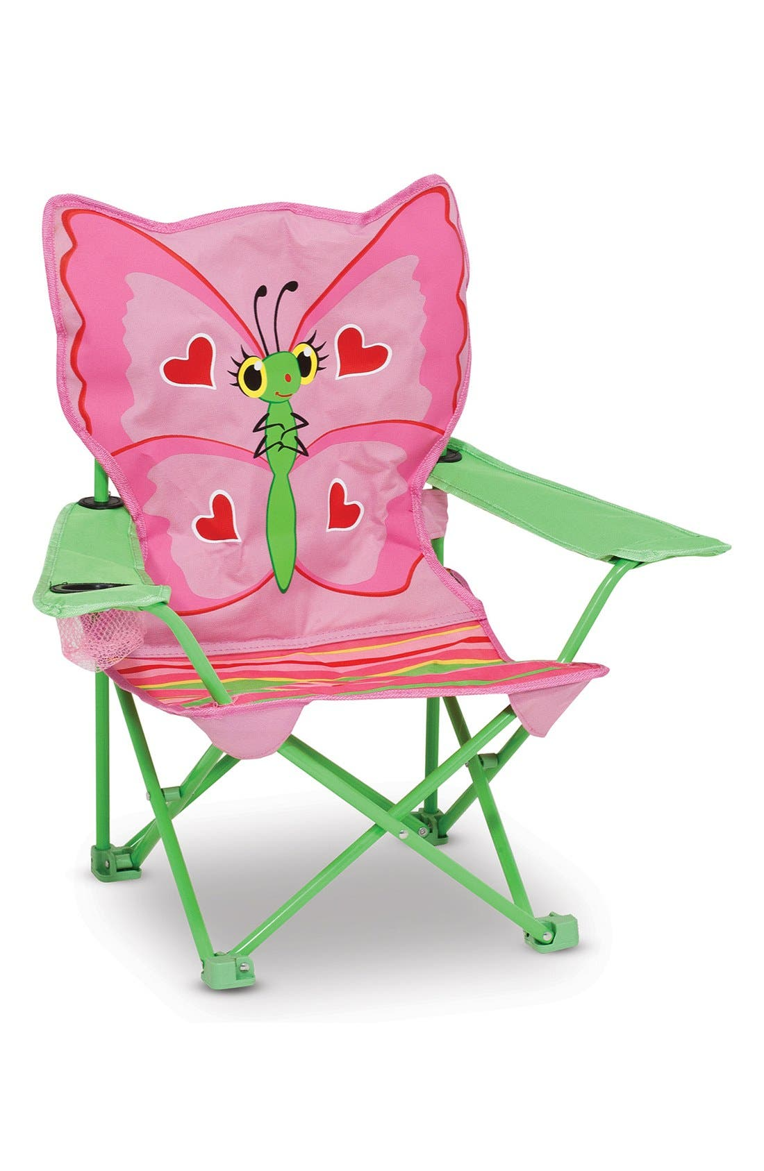 'Bella Butterfly' Folding Chair,                         Main,                         color, Pink