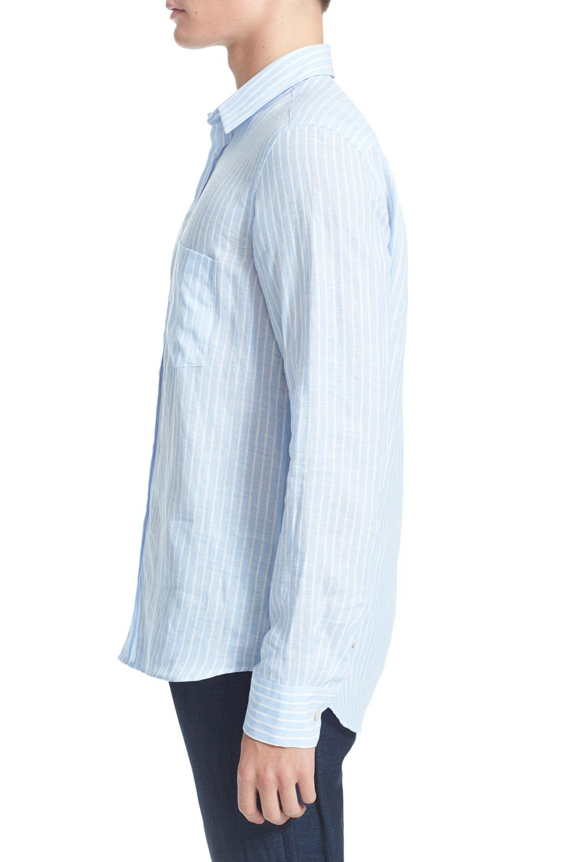 Alternate Image 4  - Vilebrequin 'Carrix' Trim Fit Stripe Linen Shirt