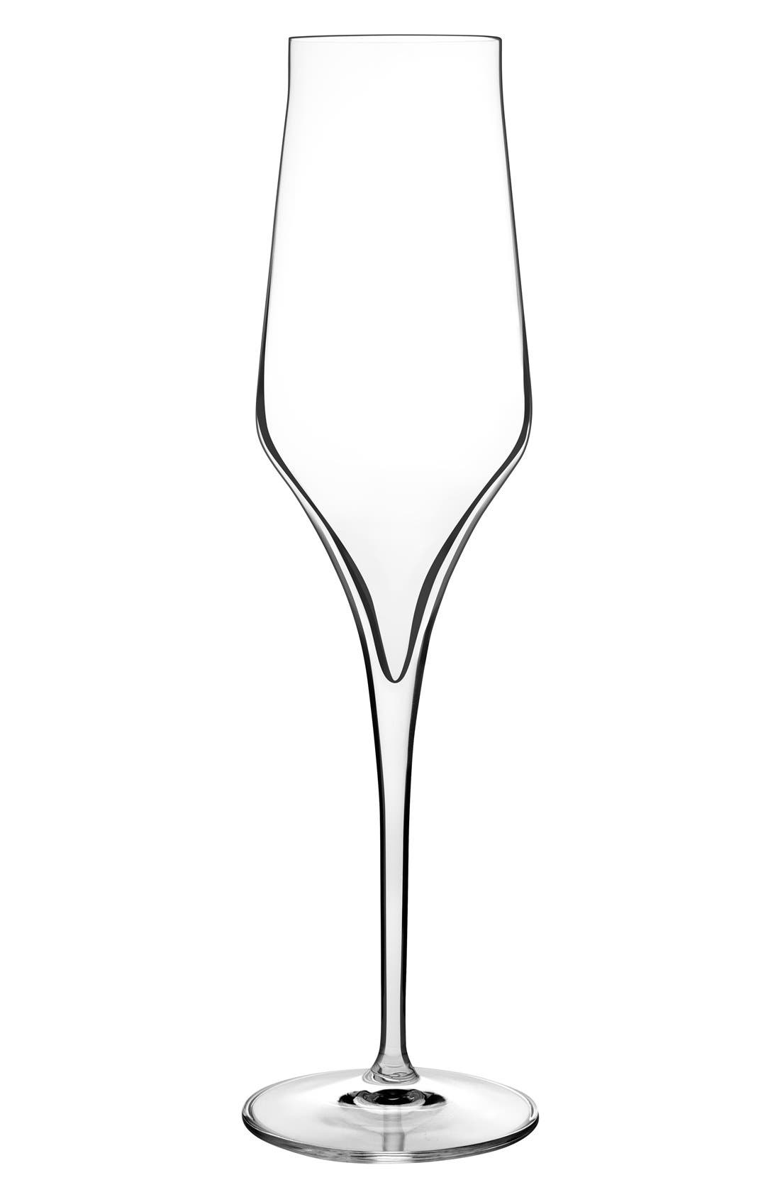 'Supremo' Champagne Flutes,                             Main thumbnail 1, color,                             Clear