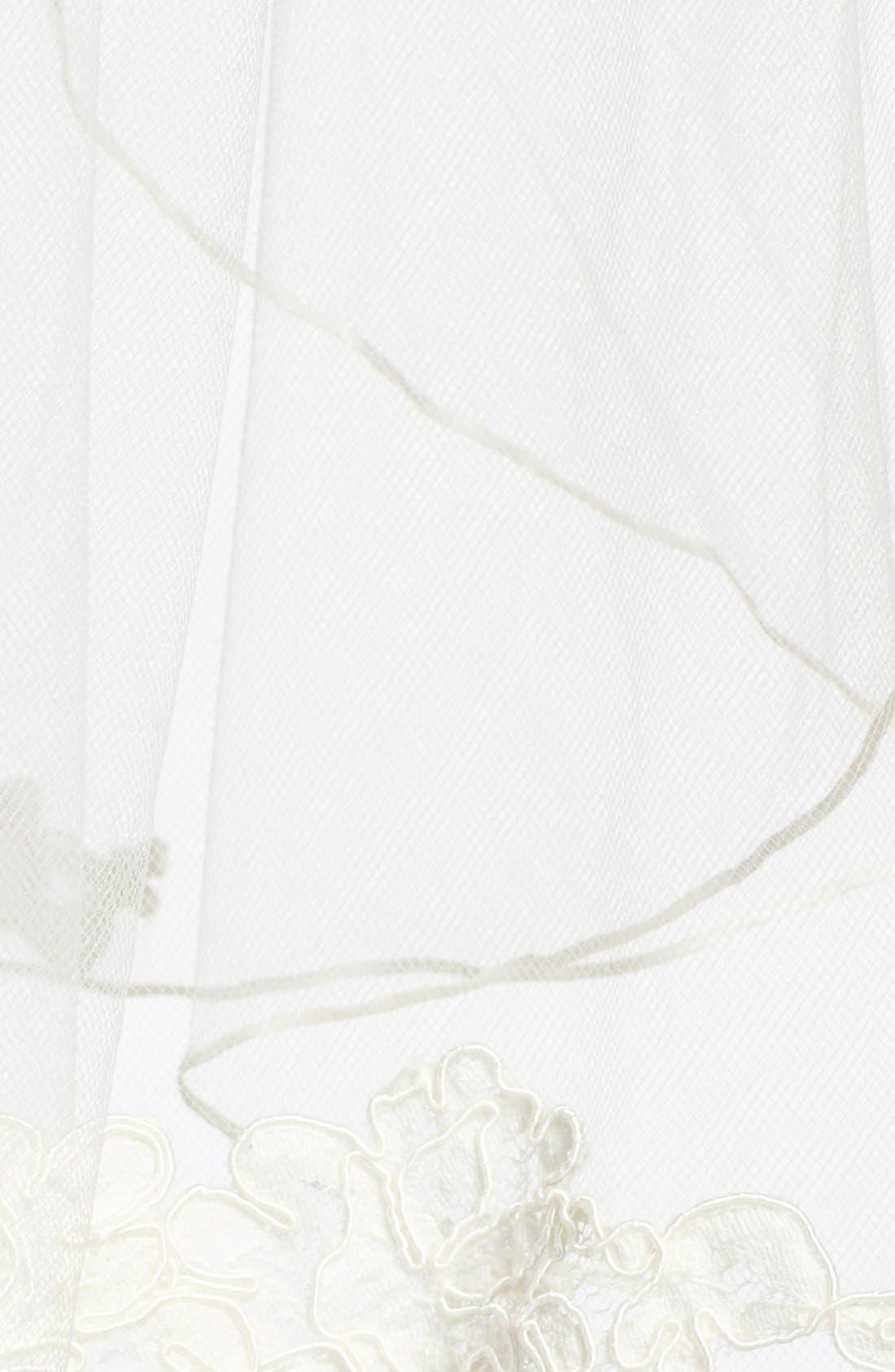 Alternate Image 2  - Toni Federici 'Sunrise' Lace Appliqué Fingertip Veil