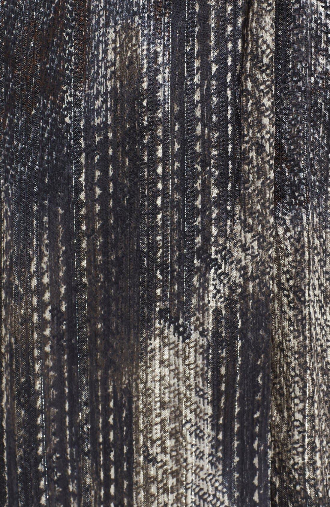 Crossover Maternity Dress,                             Alternate thumbnail 4, color,                             Metallic Lurex Print