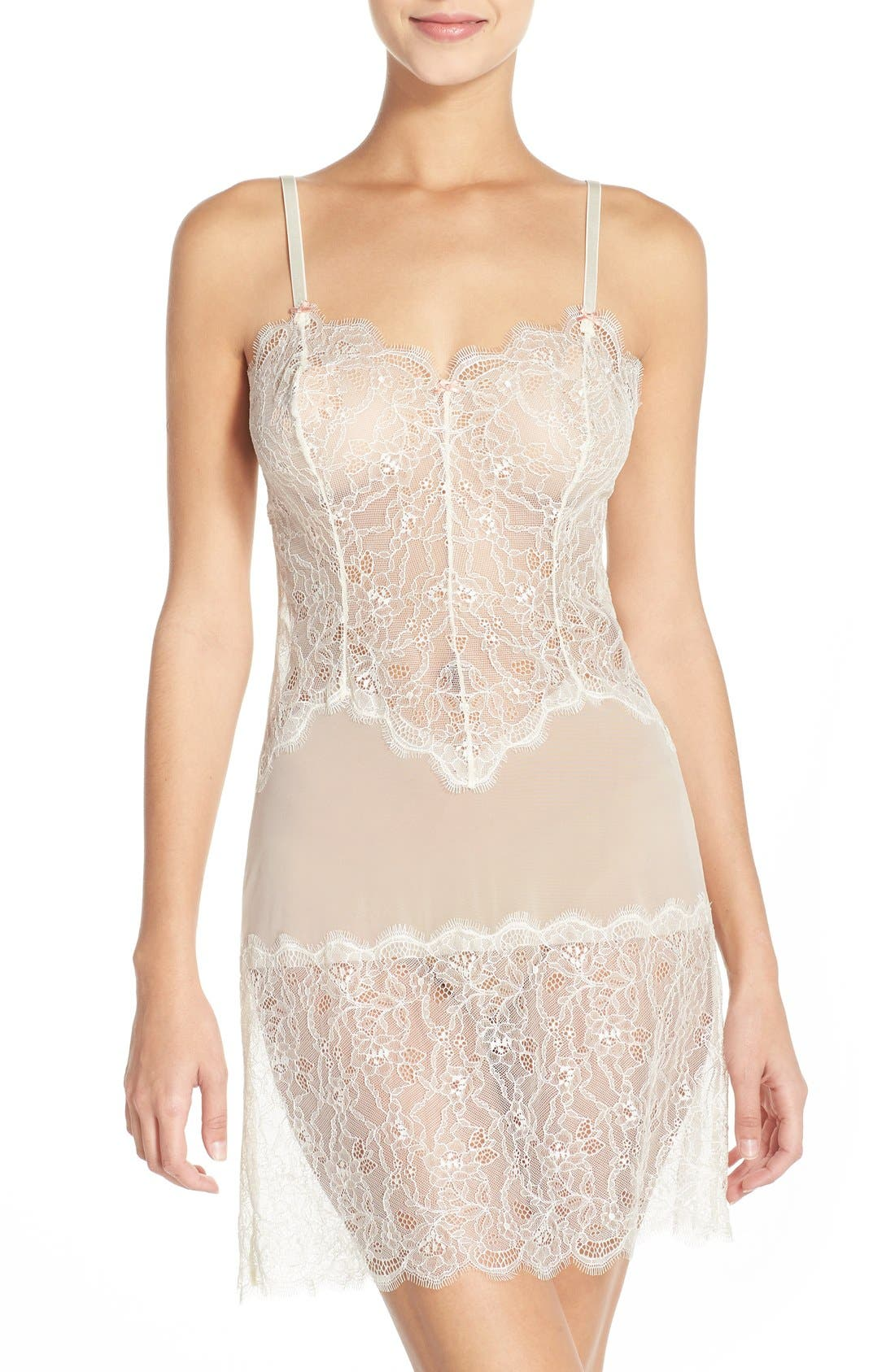 'b.sultry' Chemise,                             Main thumbnail 1, color,                             Vanilla Ice