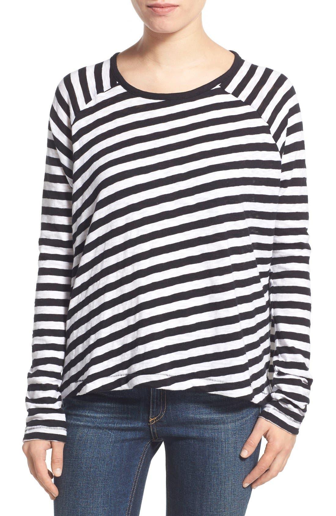 Main Image - rag & bone/JEAN 'Camden' Stripe Long Sleeve Tee