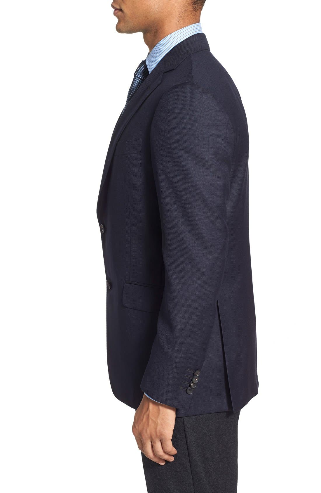 Classic Fit Wool Blazer,                             Alternate thumbnail 3, color,                             Navy