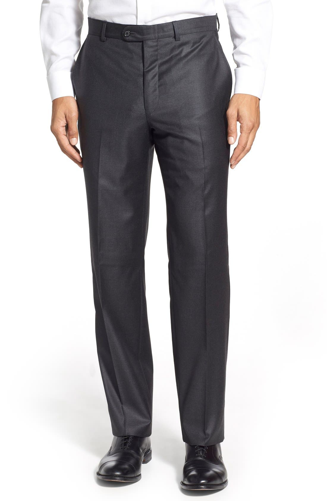 Alternate Image 6  - Hickey Freeman Classic B Fit Solid Wool Suit