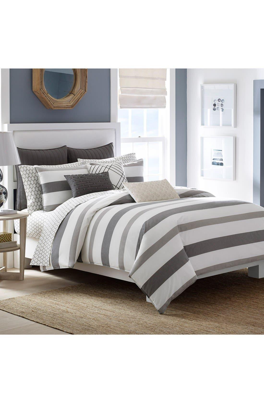 Chatfield Comforter & Sham Set,                         Main,                         color, Taupe/ Grey
