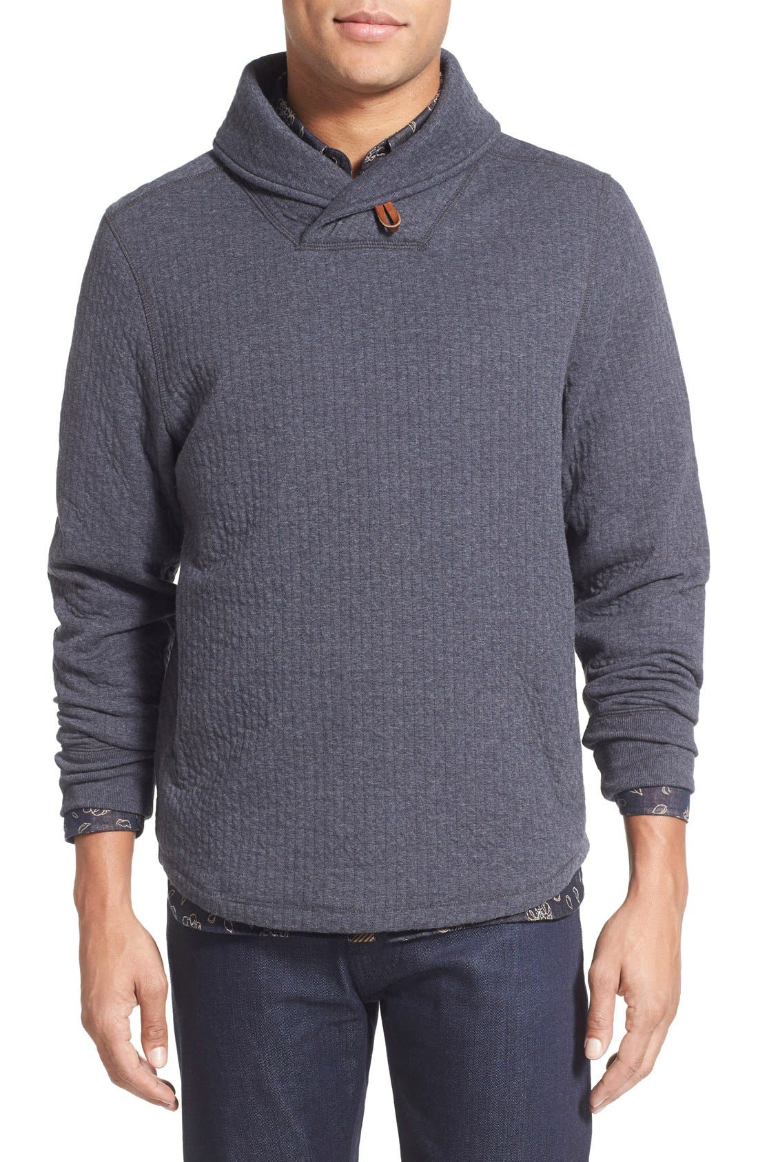 'Barnes' Shawl Collar Jersey Sweater,                             Main thumbnail 1, color,                             True Navy