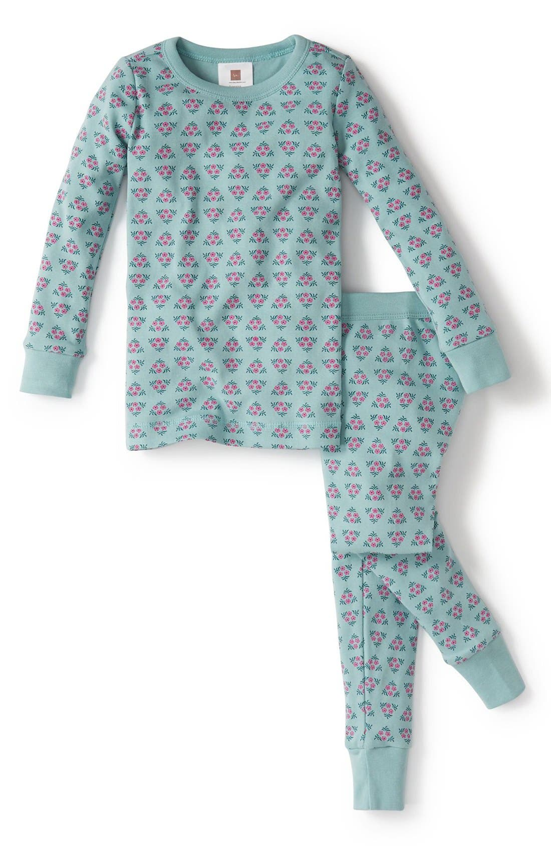 Alternate Image 1 Selected - Tea Collection 'Cancion de Cuna' Fitted Two-Piece Pajamas (Toddler Girls, Little Girls & Big Girls)