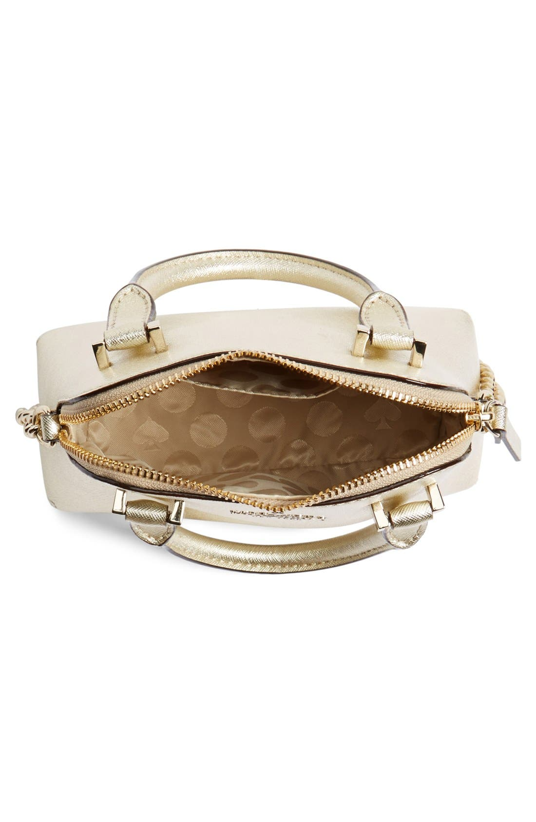 Alternate Image 4  - kate spade new york 'cedar street - mini maise' metallic leather crossbody bag