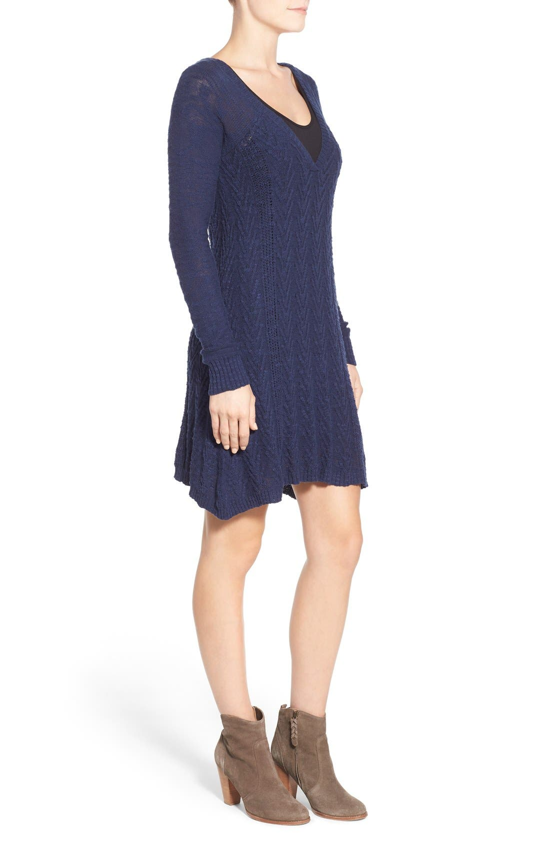 Alternate Image 3  - LAmade V-Neck Cable Knit Sweater Dress