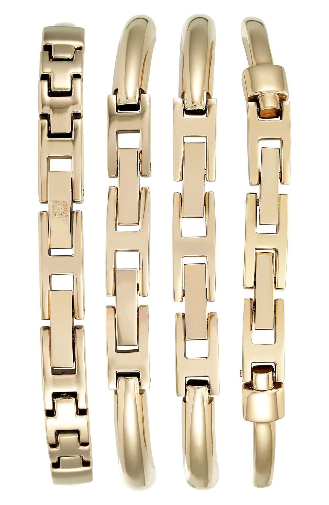 Alternate Image 2  - Anne Klein Boxed Bracelet & Bangle Watch Set, 24mm