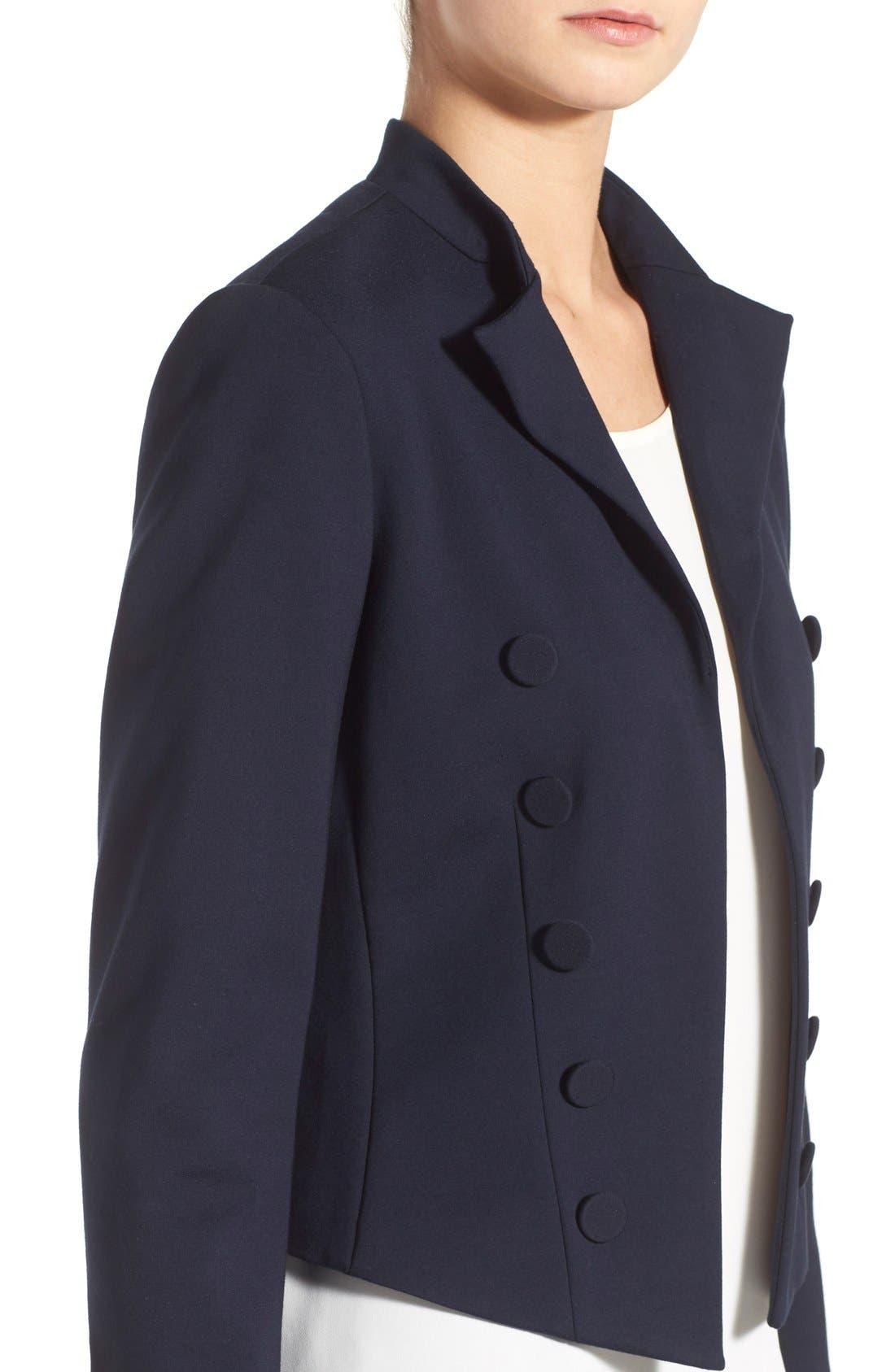 Alternate Image 4  - Ellen Tracy Double Breasted Knit Blazer (Regular & Petite)