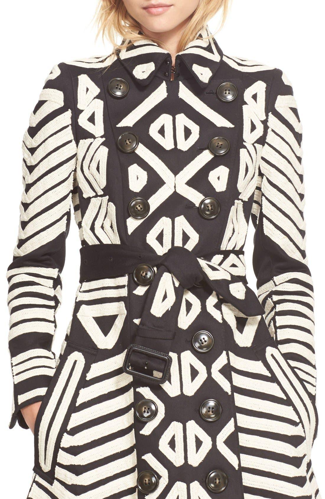 Alternate Image 5  - Burberry Prorsum Embellished Cotton Trench Coat