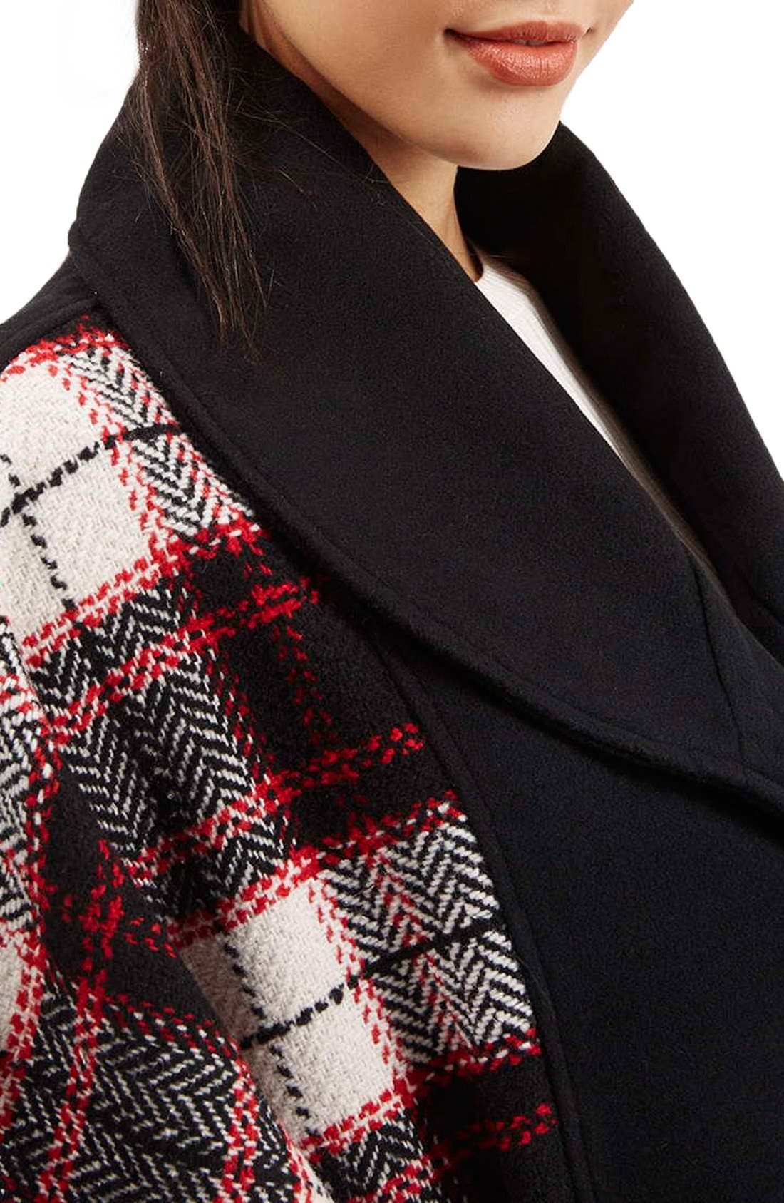 Alternate Image 5  - Topshop Mixed Check Cape