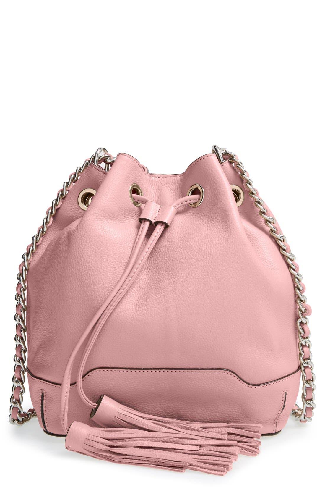 'Lexi' Bucket Bag,                         Main,                         color, Rose