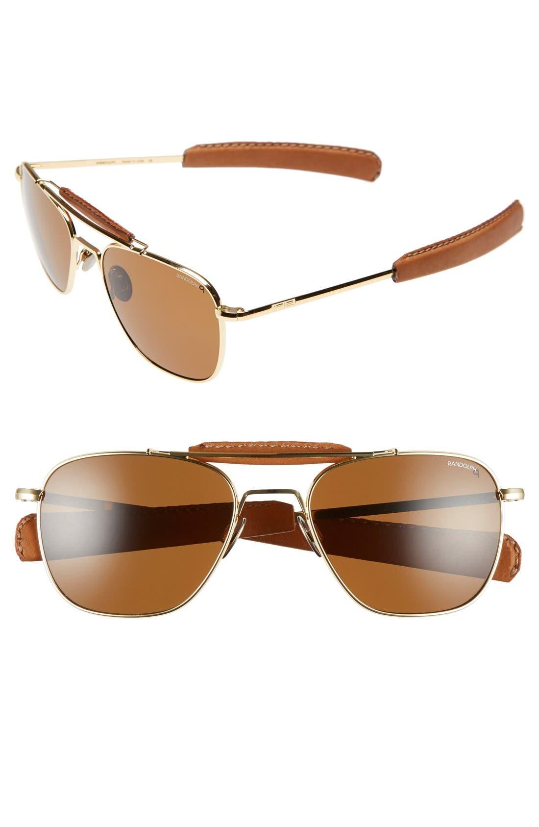 Randolph Engineering 'Aviator II' Polarized 55mm Sunglasses