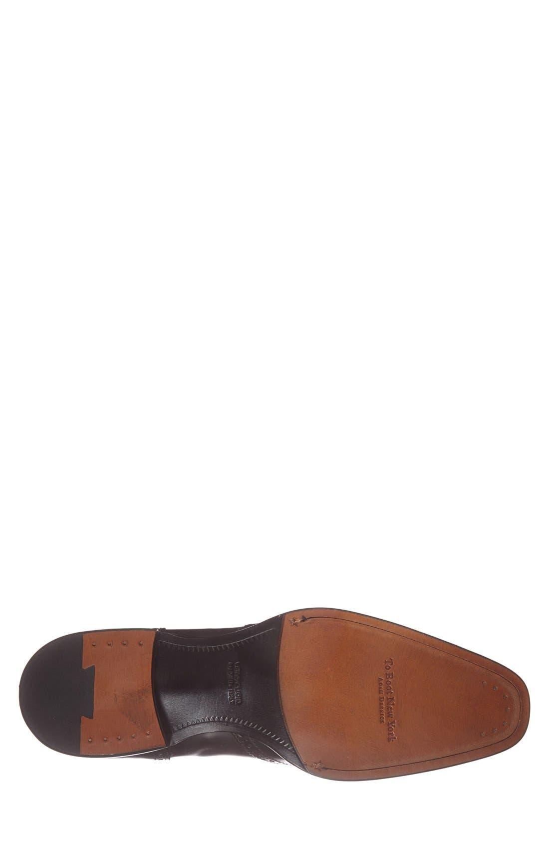 'Duke' Wingtip,                             Alternate thumbnail 6, color,                             Black Leather
