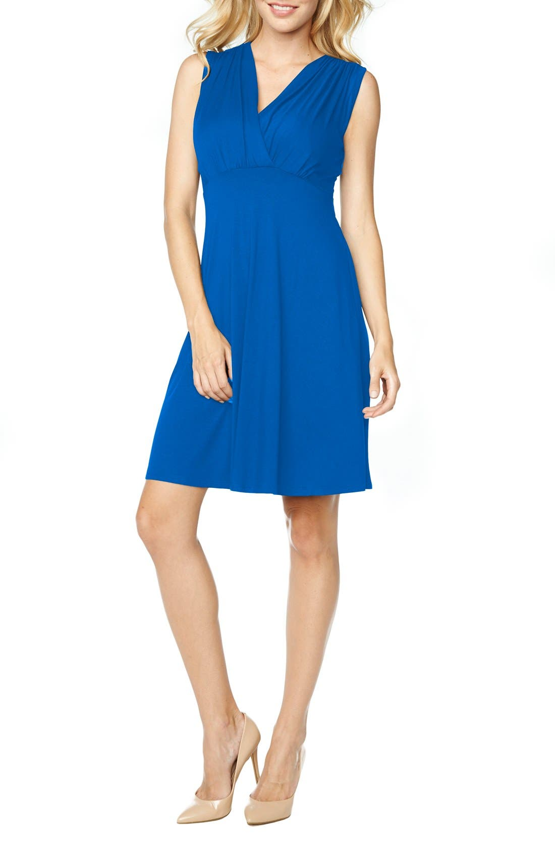 Main Image - Maternal America Tummy Tuck Sleeveless Maternity/Nursing Dress