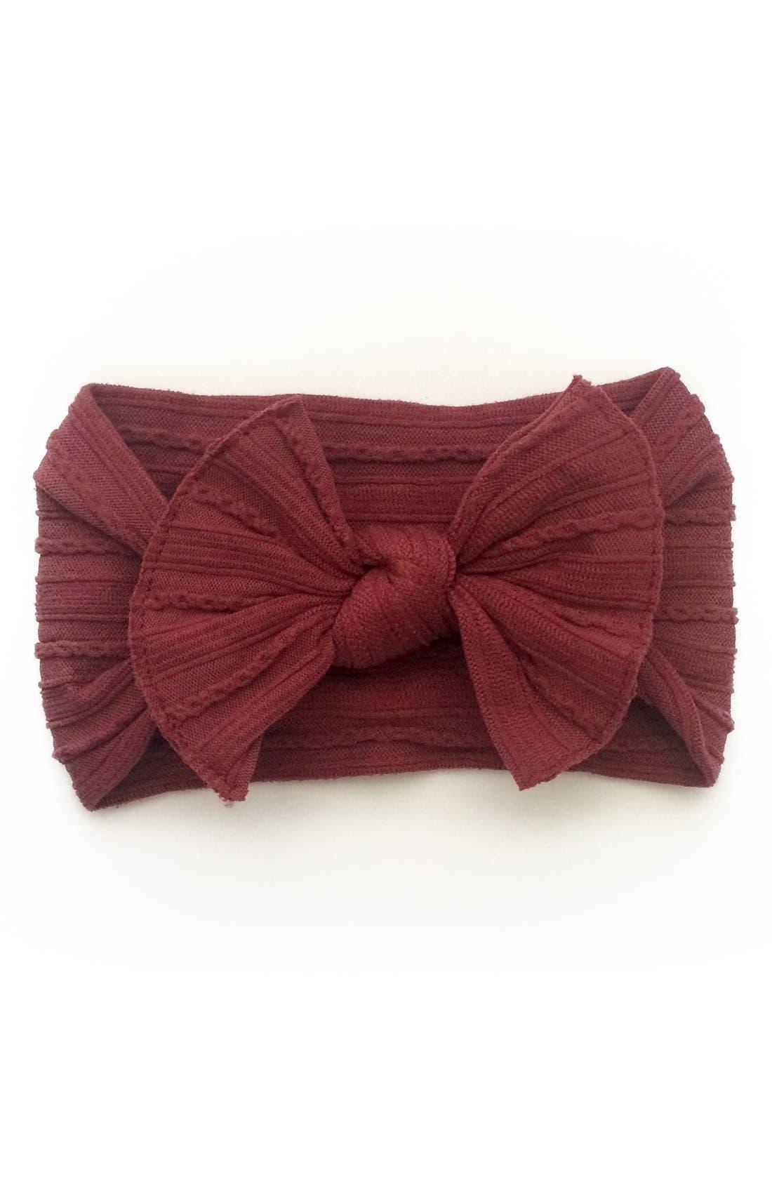 Bow Headband,                             Main thumbnail 1, color,                             Burgundy